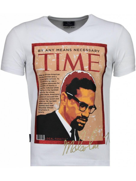 Local Fanatic Malcolm x t-shirt 4294W large