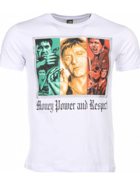 Local Fanatic T-shirt scarface money power respect print 1164W large