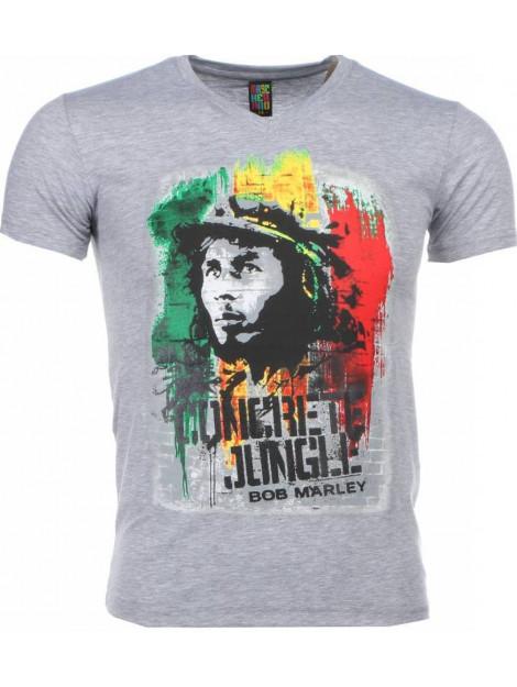 Local Fanatic T-shirt bob marley concrete jungle print 1406G large