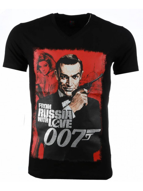 Local Fanatic T-shirt james bond from russia 007 print 54001Z large