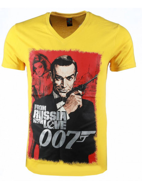 Local Fanatic T-shirt james bond from russia 007 54001GE large