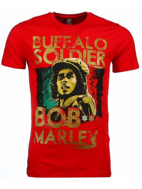Local Fanatic T-shirt bob marley buffalo soldier print 51010R large