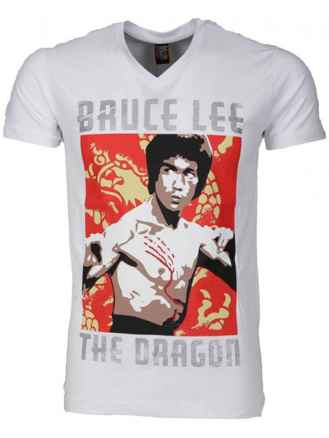 Local Fanatic T-shirt bruce lee the dragon 54006W large