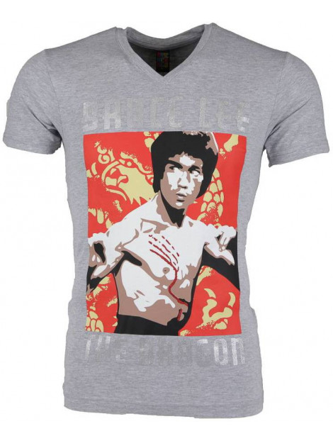 Local Fanatic T-shirt bruce lee the dragon 54006G large