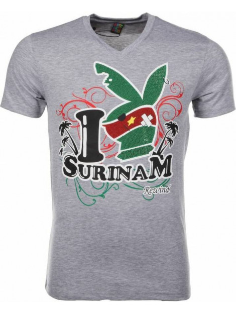 Local Fanatic T-shirt i love suriname 2309G large