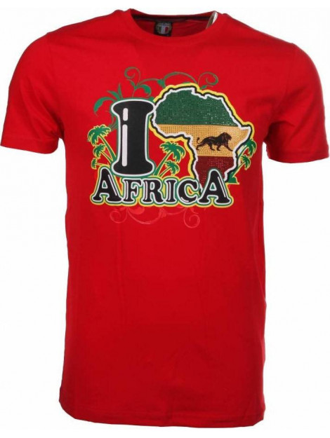 Local Fanatic T-shirt i love africa M/T-ILA-R large
