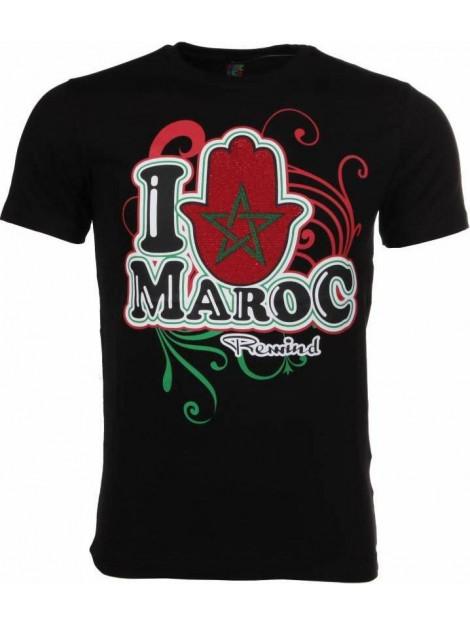 Local Fanatic T-shirt i love maroc M/T-ILM-Z large