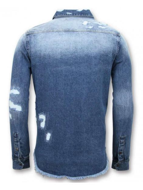 Enos Lange spijkeroverhemd denim 9023 large