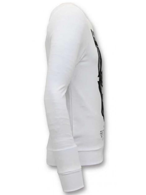Enos Sweater met print doodskop KS-7319 large