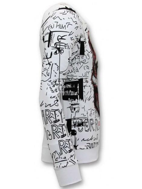 Enos Sweater met print doodskop crewneck KS-7323 large