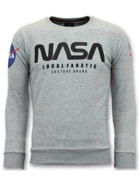 Local Fanatic Sweater nasa american flag 11-6412G large
