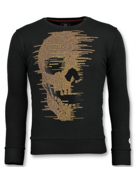 Local Fanatic Skull glitter leuke sweater 11-6343Z large