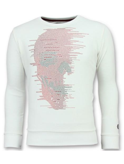 Local Fanatic Skull glitter leuke sweater 11-6343W large