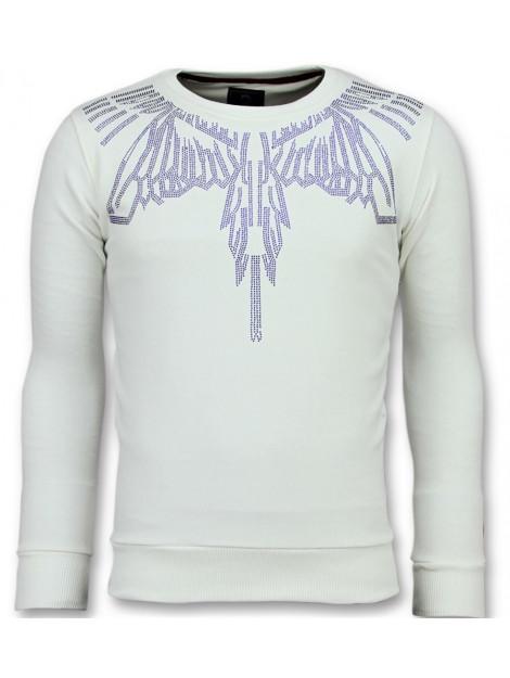 Local Fanatic Eagle glitter merk sweater 11-6340W large