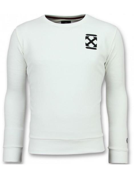 Local Fanatic Off cross sweater 11-6356W large