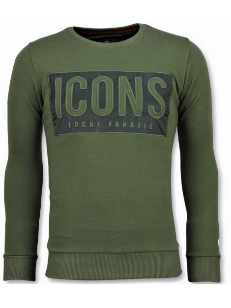 Local Fanatic Icons block sweater 11-6355G large