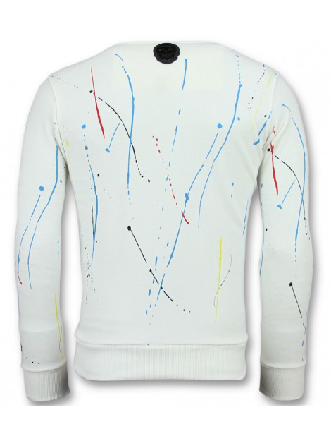 Local Fanatic Icons painted sweater 11-6341W large