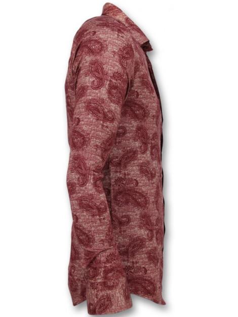 Tony Backer Bloemenprint slim fit 3003 large