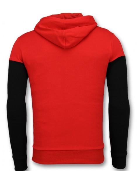 Enos Hoodie slim fit striped hooded sweater F-7512 large