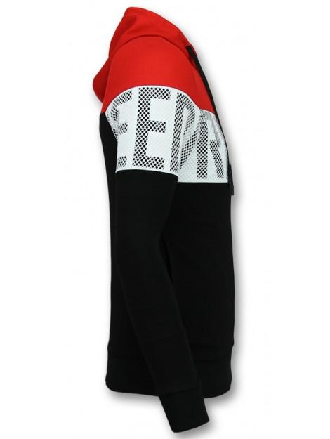 Enos Striped hooded sweat-shirt hoodie met capuchon F-563RZ large