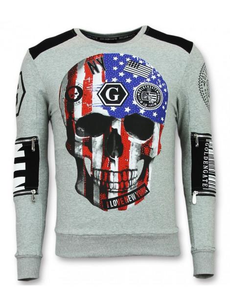 Enos Trui met doodskop sweaters goedkoop F-583G large