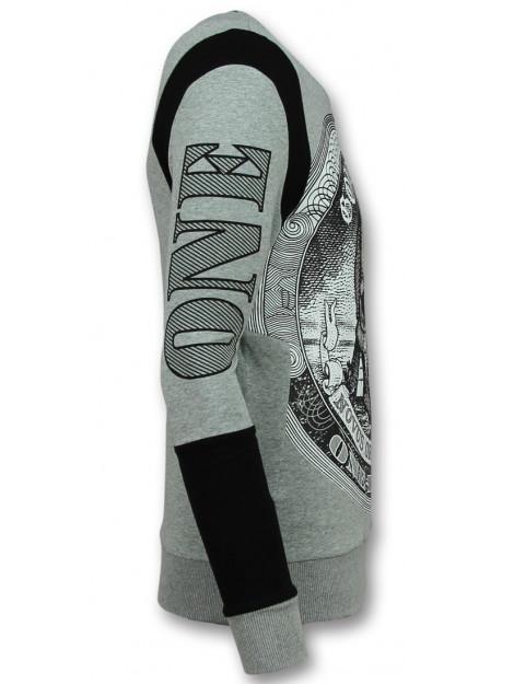 Enos Rhinestone trui skull dollar sweater F-588G large