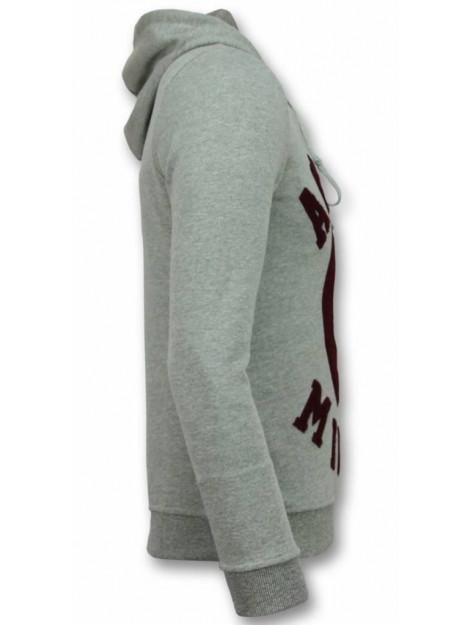 Tony Backer Flockprint hoodie peace hoodie UP-G030G large
