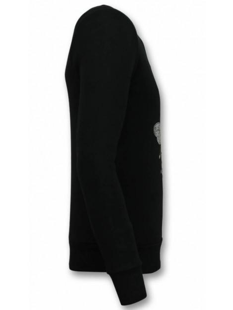 Tony Backer Rhinestone trui master royal color bee sweater UP-ZS001Z large