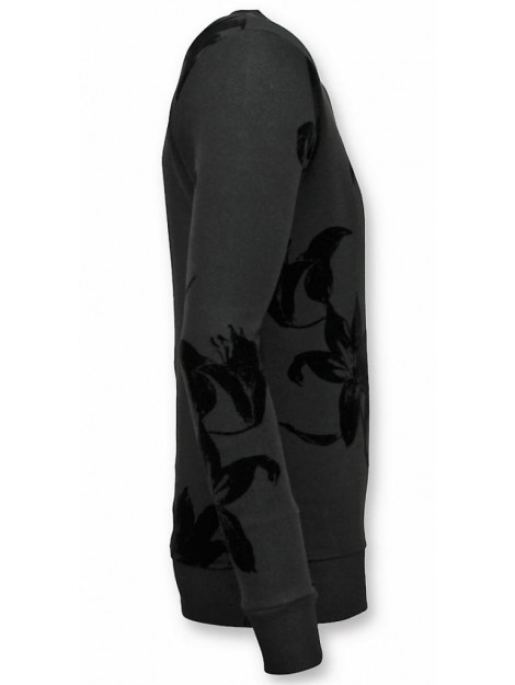 Tony Backer Flock print trui bladeren sweater UY-316Z large