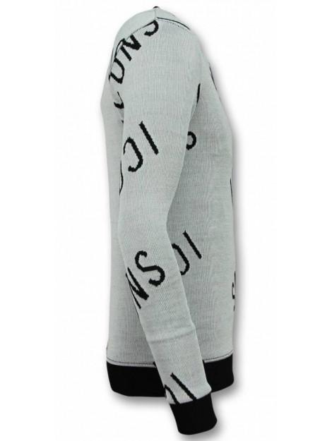 Tony Backer Print trui icons sweater UY-294G large