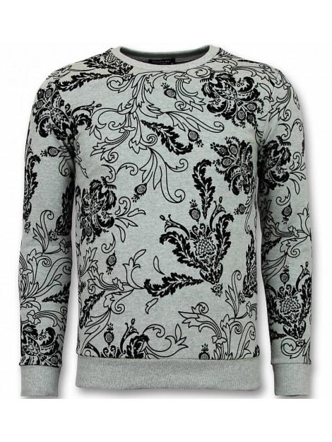 Tony Backer Flockprint trui bladeren sweater UY-236W large