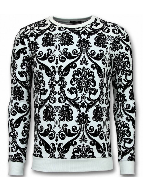 Tony Backer Flockprint trui bladeren sweater UY-235W large