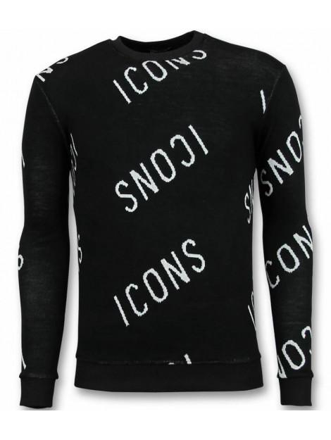 Tony Backer Print trui icons sweater UY-294Z large