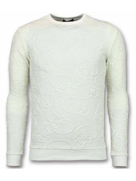 Tony Backer Skull print trui death's head print sweater UY-301W large