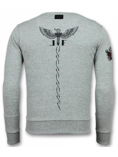 Local Fanatic Mcgregor tattoo trui notorious sweater 11-6309G large