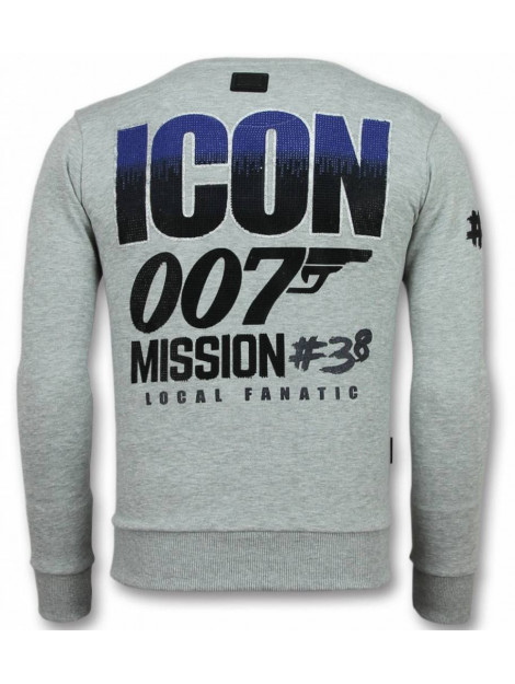 Local Fanatic 007 trui james bond sweater 11-6305G large