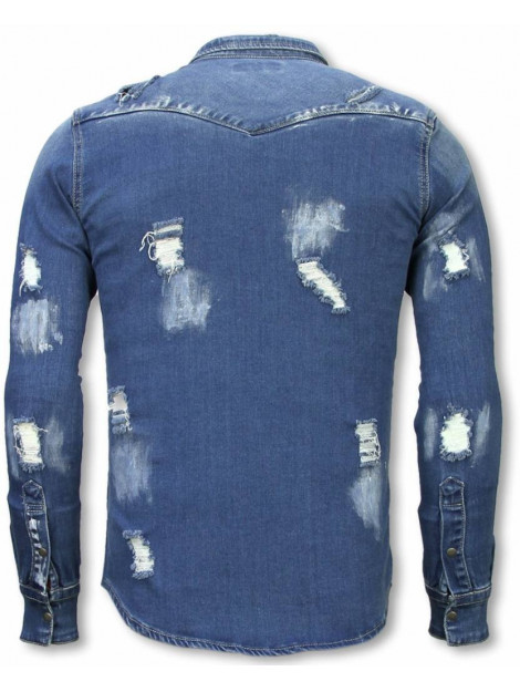 True Rise Denim shirt slim fit damaged allover DC-2285B large