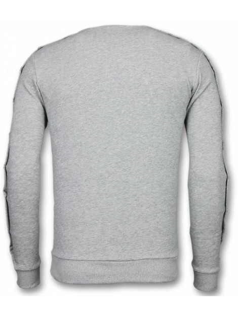 Enos Casual crewneck buttons trui FF-7012G large