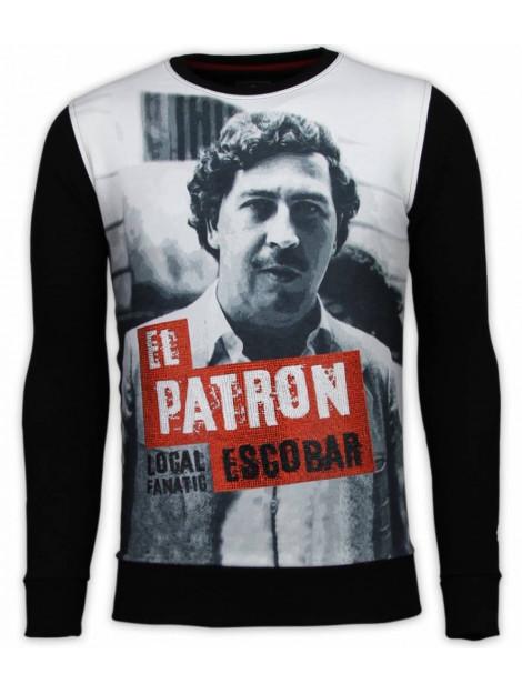 Local Fanatic El patron escobar digital rhinestone sweater 13-6241 large