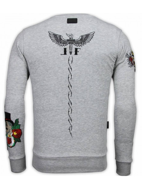 Local Fanatic Mcgregor notoriuous tattoo embroidery sweater 13-6201G large