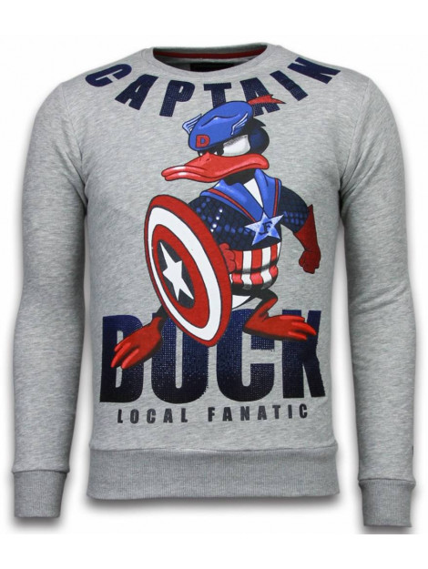 Local Fanatic Captain duck rhinestone sweater 6008G large