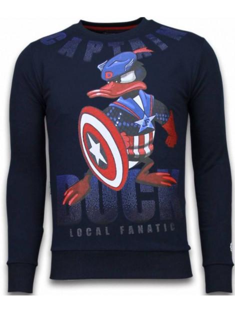 Local Fanatic Captain duck rhinestone sweater 6008N large