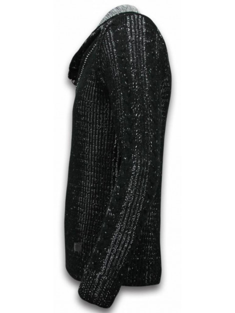 BN8 BLACK NUMBER Gebreide trui sjaalkraag knopen 5006Z large