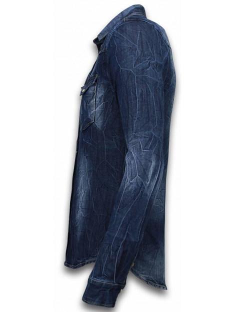 Enos Denim shirt spijker slim fit CMJ-9812B large