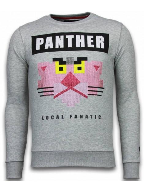 Local Fanatic Panther rhinestone sweater 5915G large