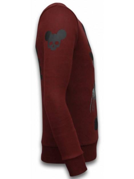 Local Fanatic Bad mouse rhinestone sweater 6174B large