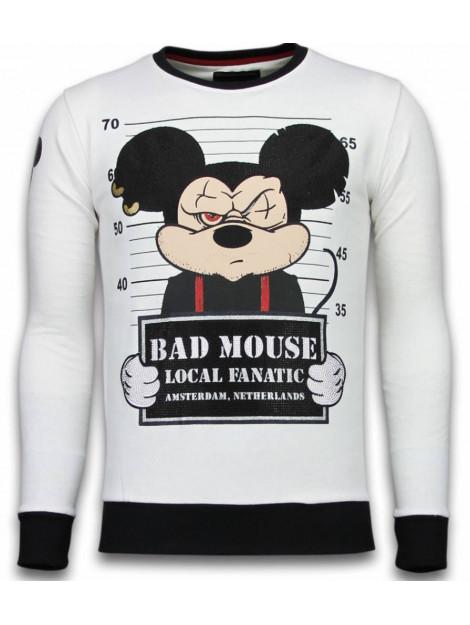 Local Fanatic Bad mouse rhinestone sweater 6080W large