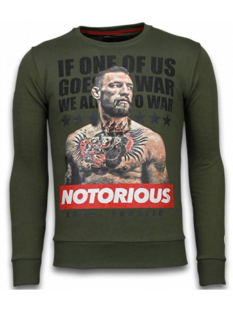 Local Fanatic Conor mcgregor rhinestone sweater 5913GR large