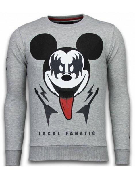Local Fanatic Kiss my mickey rhinestone sweater 5912G large