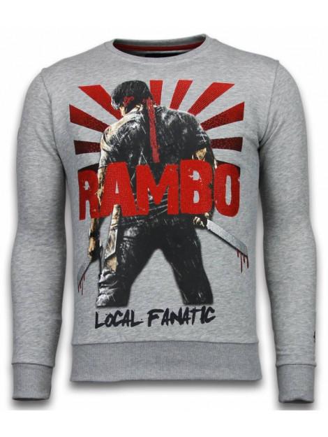 Local Fanatic Rambo rhinestone sweater 5910LG large